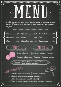 Menu boutique